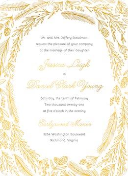 Ring Of Love Foil Pressed Invitation