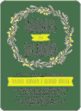 Meadow Wreath Invitation