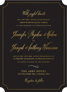Simply Shining Foil Pressed Invitation