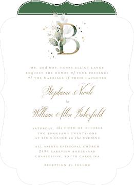 Ethereal Initial Wedding Invitation