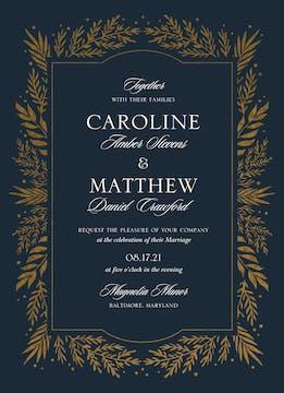 Gilded Garden Foil-Pressed Wedding Invitation