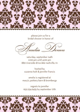 Dreamy Damask Invitation