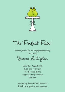 The Perfect Pair Invitation