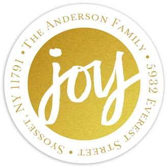 Golden Joy Round Address Sticky