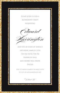 Sparkle Border Invitation