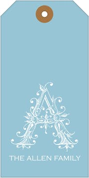 Misty Blue Gift Tag