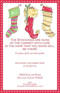 Three Stockings Invitation