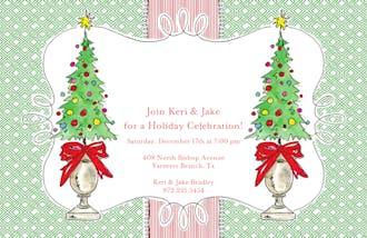 Christmas Topiary Invitation