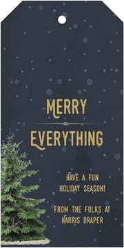 Merry Everything Hanging Gift Tag