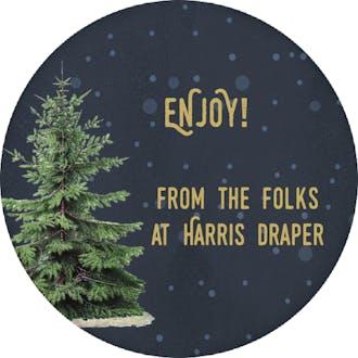 Christmas Tree Round Gift Sticker