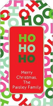 Ho Ho Ho Hanging Gift Tag