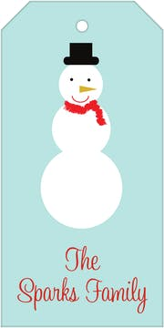 Snowman Hanging Gift Tag