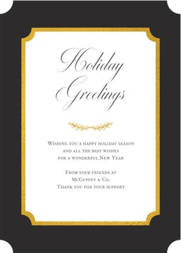 Elegant Foiled Flat Greeting Card