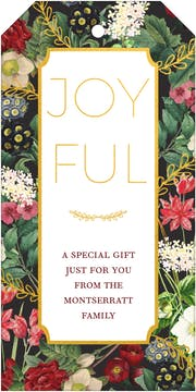 Foiled Floral Hanging Gift Tag