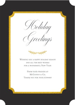 Elegant Flat Greeting Card