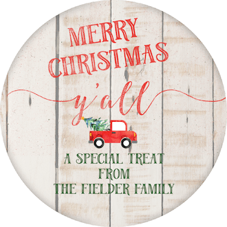 Merry Christmas Y'all Gift Sticker