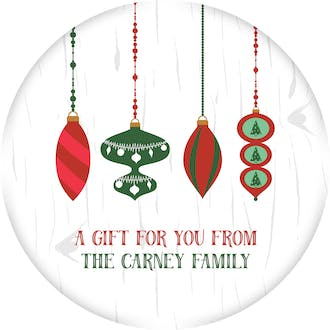Hanging Ornaments Gift Sticker