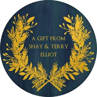 Wreath Gift Sticker