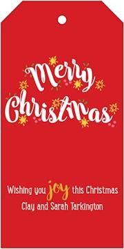 Merry Christmas Hanging Gift Tag