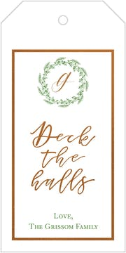 Deck The Halls Hanging Gift Tag