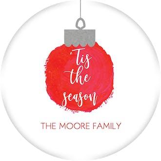 Tis the Season Ornament Gift Sticker