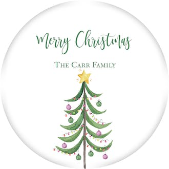 Modern Tree Gift Sticker
