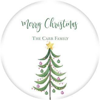 Modern Tree Gift Sticker