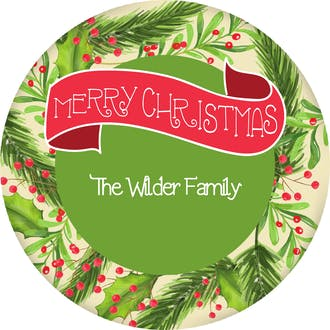 Winterberry Frame Gift Sticker