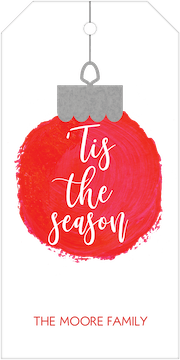 Tis the Season Ornament Gift Tag