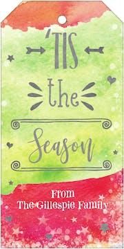 Tis the Season Watercolor Gift Tag