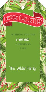Winterberry Frame Gift Tag