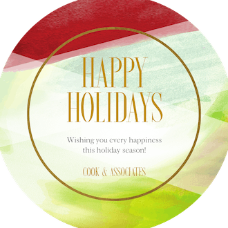 Shades of Red and Green Circle Holiday Greeting Card