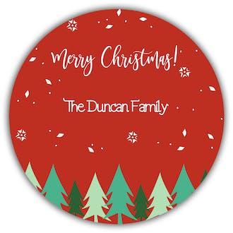 Evergreens Gift Sticker