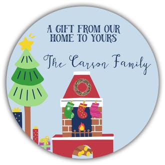 From Our Home To Yours Gift Sticker