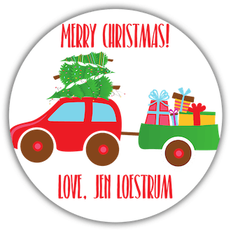 Home for the Holidays Gift Sticker