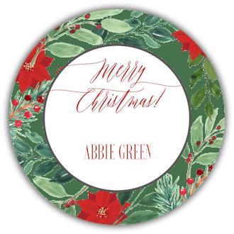 Christmas Flora Frame Gift Sticker