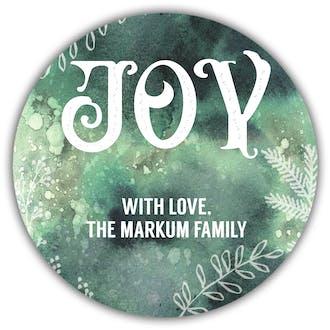 Watercolor Joy Gift Sticker