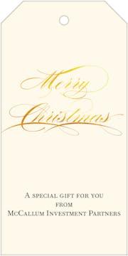 Shining Merry Christmas Hanging Gift Tag