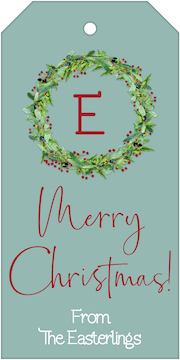 Festive Wreath Hanging Gift Tag
