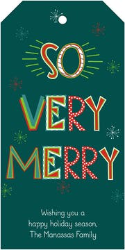 So Very Merry Hanging Gift Tag