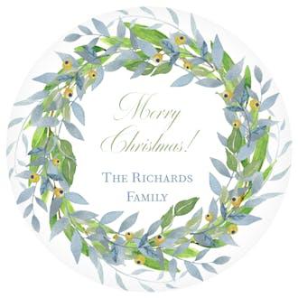Celeste Wreath Gift Sticker
