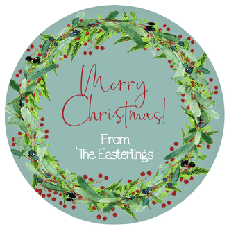 Festive Wreath Gift Sticker