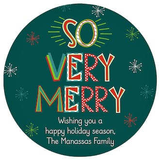 So Very Merry Gift Sticker