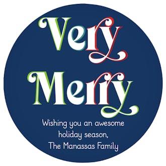 Very Merry Gift Sticker