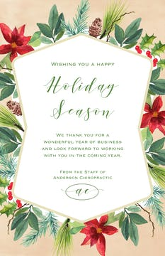 Fashioned Foliage Holiday Greeting Card