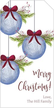 Watercolor Ornaments Hanging Gift Tag