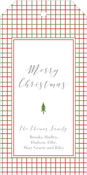 Red and Green Lattice Hanging Gift Tag