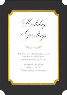 Elegant Flat Greeting Card