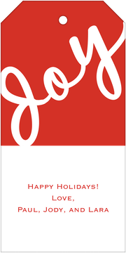 Joy Hanging Gift Tag