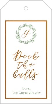 Deck The Halls Foiled Hanging Gift Tag